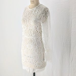 Haoduoyi white lace dress